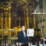 Performing with orchestra in Krakow, Poland, 2002
